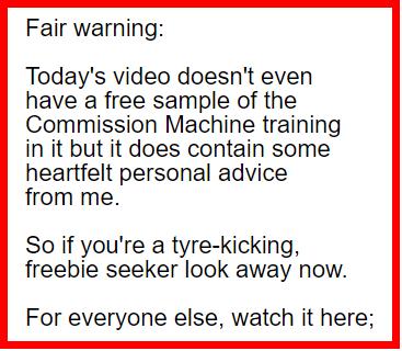 Email Marketing Warning