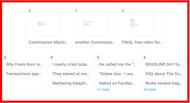 Calendar of Email Follow Ups