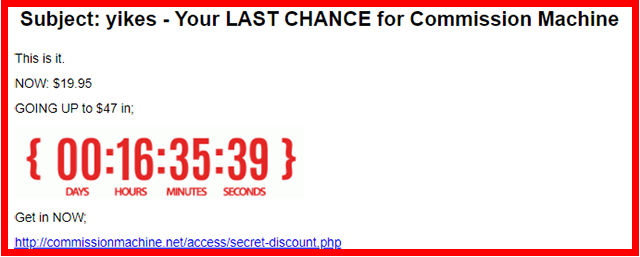Last Chance Email