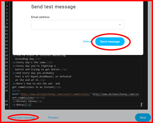 Send Test Email Message