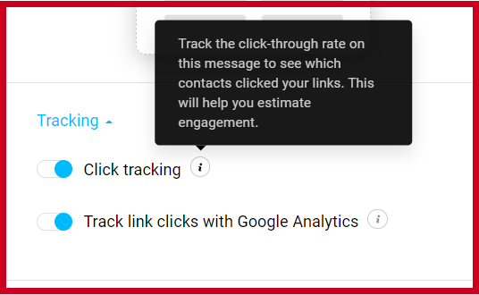 Activate Click Tracking