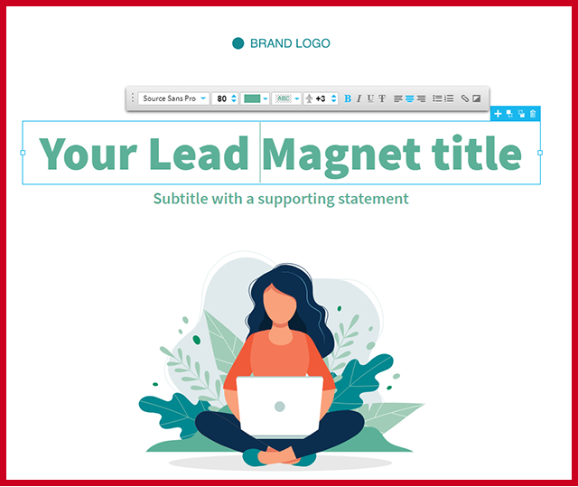 Create Landing Page Design
