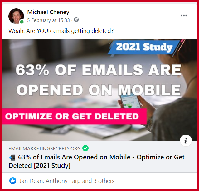 Posting a Link on Facebook