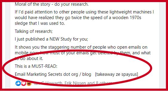 Facebook Secret Link Method