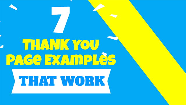 Thank You Page Examples